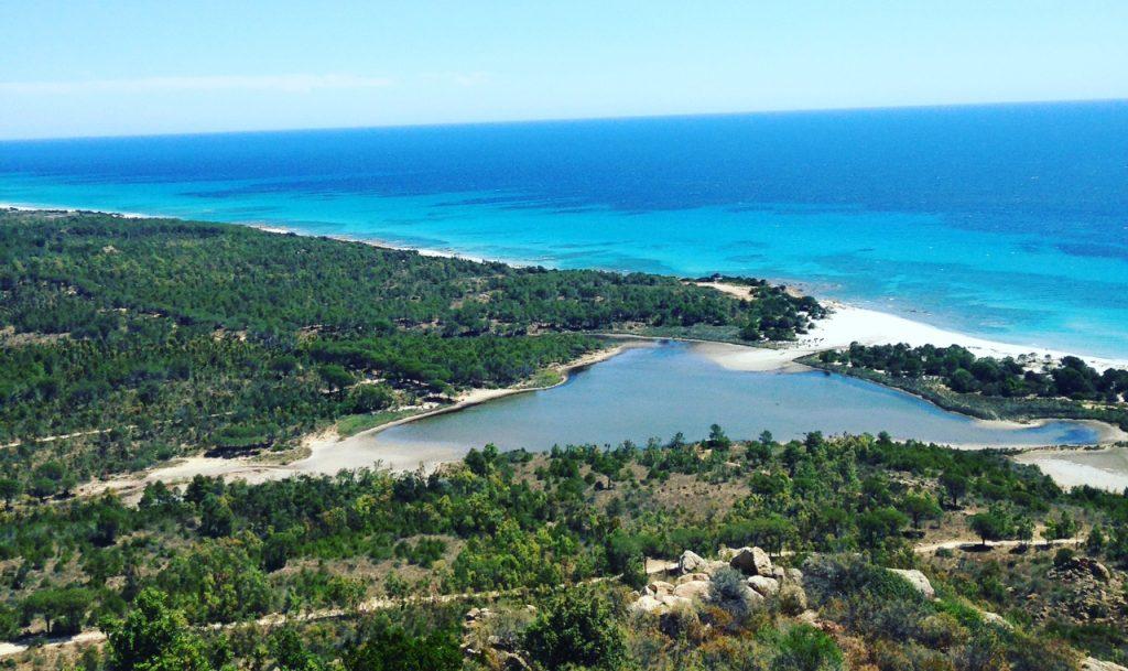 Le point de vue sur l'Oasis de Bidderosa