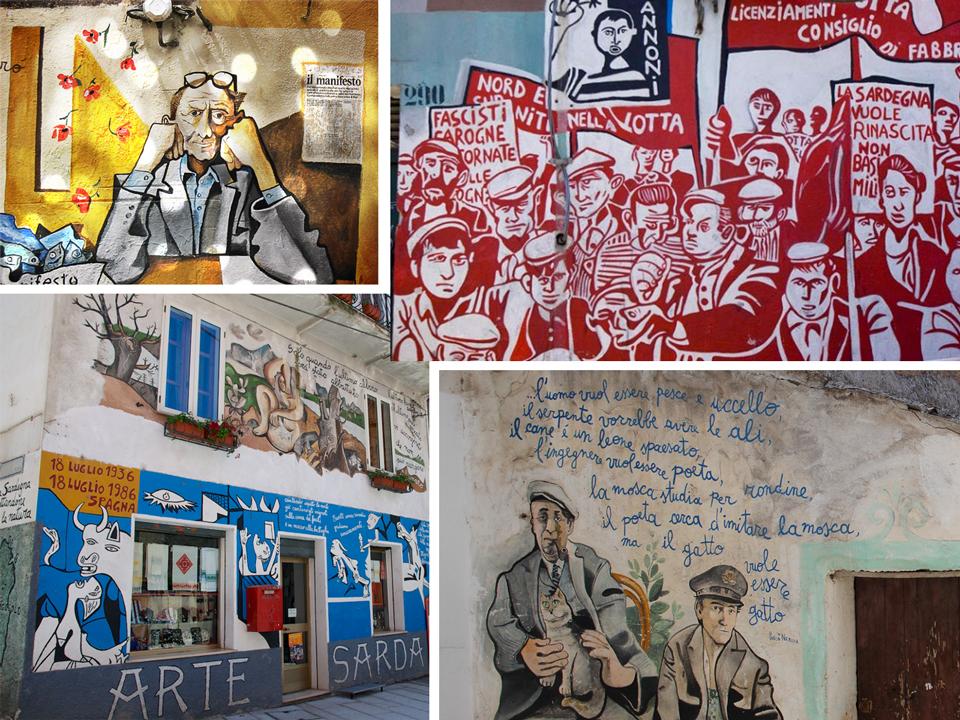 Orgosolo : peintures et fresques sur les murs