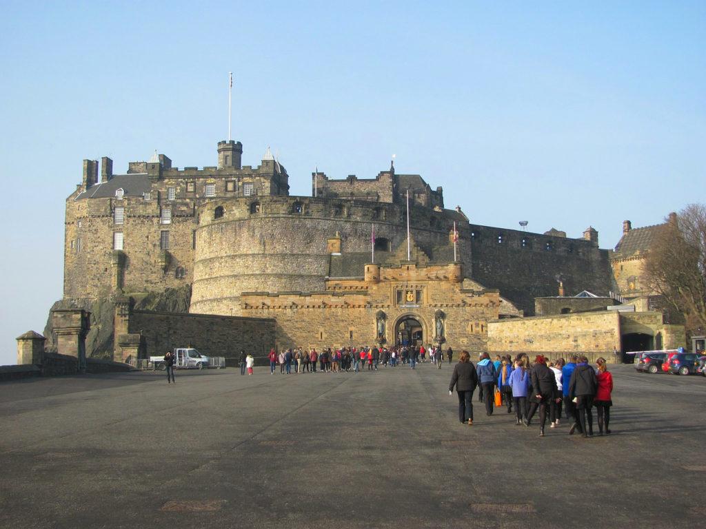 Entrée du château d'Edimbourg