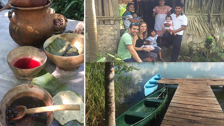 Excursion dans une famille maya au Mexique