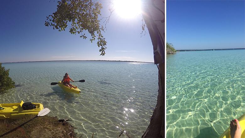 Tour en canoë sur le lagon de Bacalar
